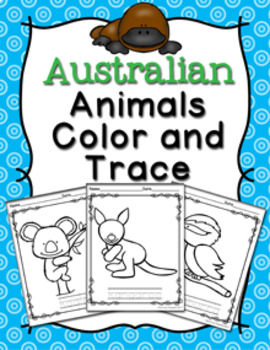 Australian Animals Color and Trace