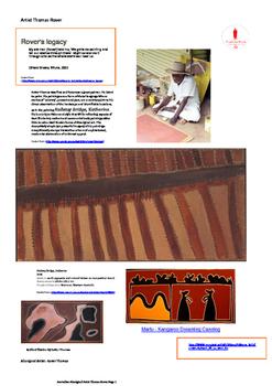 Australian Aboriginal Artist Rover Thomas.