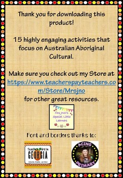 Australian Aboriginal Cultural Activities and Current Issues