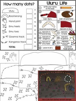 Australian Aboriginal Dot Painting: Art, ELA, Math and Culture