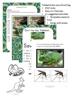 Australian Aboriginal Dreamtime Story: Tiddalick, the very thirsty frog