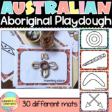 Australian Aboriginal Symbols and Animal Playdough Mats NAIDOC
