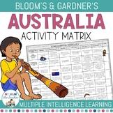 All About Australia - Blooms Taxonomy & Gardner's Multiple Intelligene Matrix
