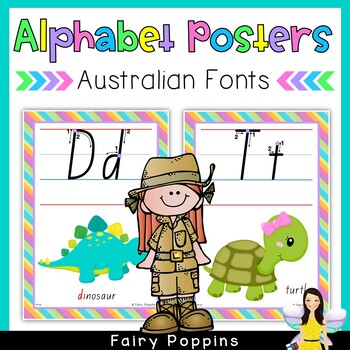 Australian Alphabet Charts - Every State's School Font in Print and Pre Cursive!