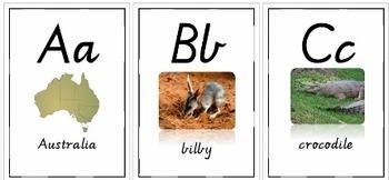 Australian Animal Alphabet Letters