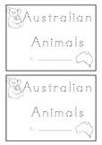 Australian Animal Beginning Sounds Animal Name Book K-1 For Kids To Make