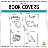 Australian Animal Book Covers EDITABLE