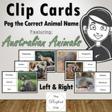 Australian Animal Clip Cards, Left & Right, 28 Real Photos