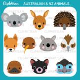Australian Animal Faces Clipart