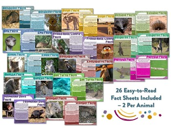 Australian Animal Factballs and Information Sheets