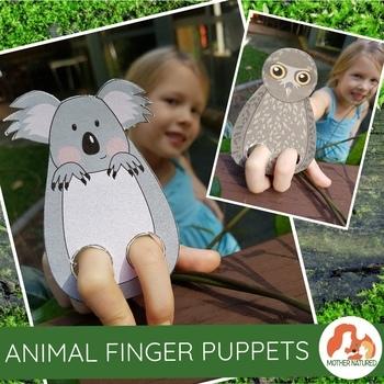Australian Animal Finger Puppets