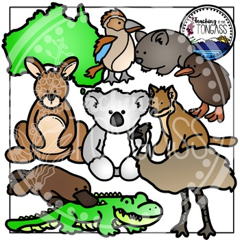 New Zealand and Australian Clipart