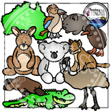 Australian & New Zealand Animal Clipart Bundle