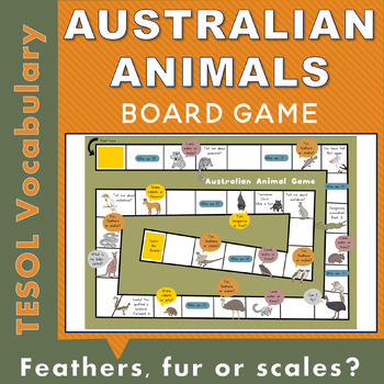 Australian Animal Printable Board Game