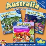 Australian Animal Habitat Diorama Project BUNDLE
