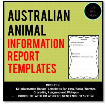 Australian Animal Information Report Templates
