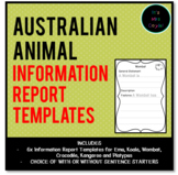 Australian Animal Information Report Templates