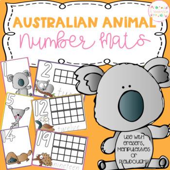 Australian Animal Playdough Number Mats
