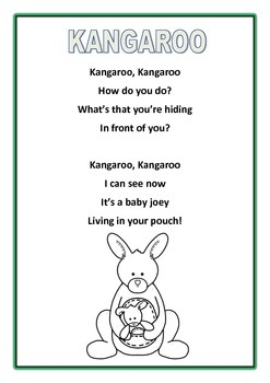 Australian Animal Poems Younger Students Printables ...