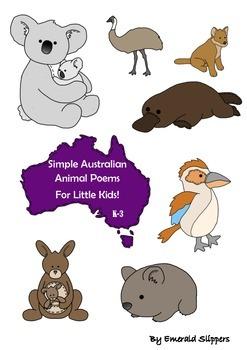 Australian Animal Poems Younger Students Printables Teachi