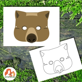 Australian Animal Printables: Wombat Mask
