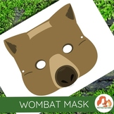 Australian Animal Printables: Wombat Mask