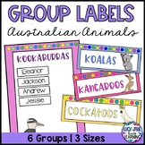 Reading Group Labels | Table Signs | Australian Animals