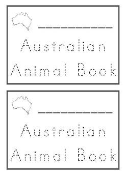 Australian Animal Tracing Animal Name Book K-1 For Kids To Make