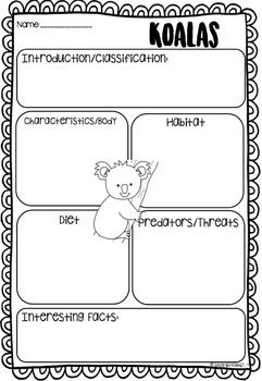 Australian Animal Writing and Craft Activities