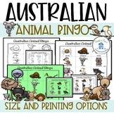 Australian Animal Bingo Game