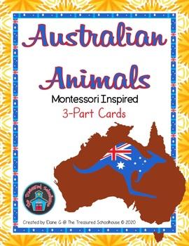 Australian Animals 3-Part Cards  #austeacherBFR