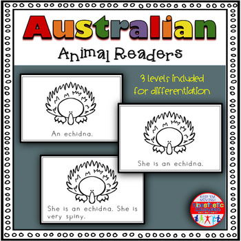 Australian Animals - A Differentiated Set of Emergent Readers