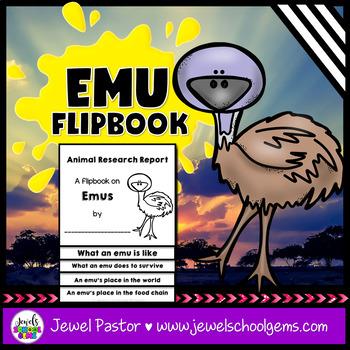 Australian Animals Activities (Emu Research Flipbook) #austeacherbfr