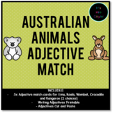 Australian Animals Adjective Match
