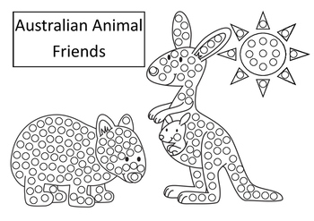 Australian Animals Art For Early Years Q Tip Painting Template Fine Motor Skills