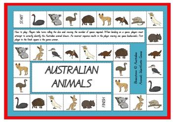 Australian Animals Board Game