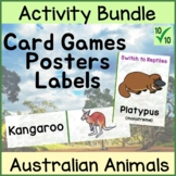 Australian Animals Bundle of Games  and Editable Name Labels
