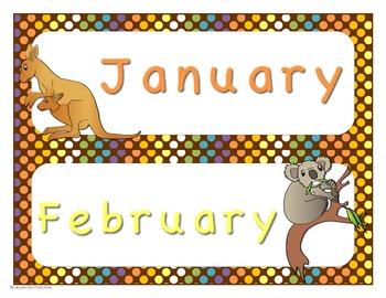 Australian Animals Calendar Set