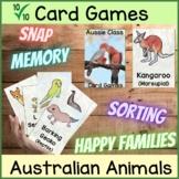 Australian Animals | Card Games | Fun Holiday Activity | P