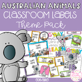 Australian Animals Classroom Theme Pack - Editable Name Tags, Labels and Posters