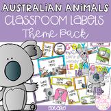 AUSTRALIAN ANIMALS Editable Name Tags, Labels, Posters & Door Display