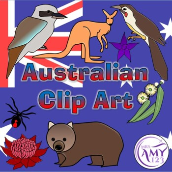 Australian Clip Art- Animals, Birds and Flowers