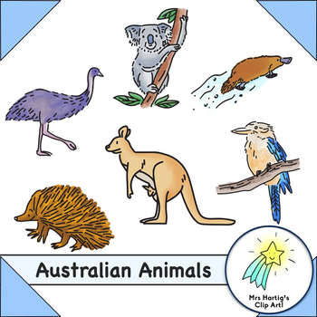 Australian Animals - Clip Art
