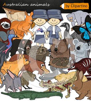 Australian Animals Clip Art Bundle
