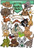 Australian Animals Clip Art #1. Transparent Backgrounds. 42 Pieces.