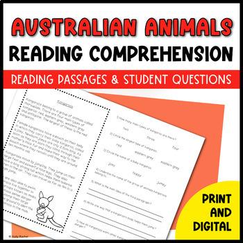 Australian Animals Close Reading