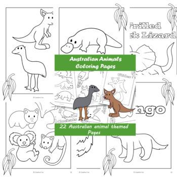Australian Animals Coloring in Paper