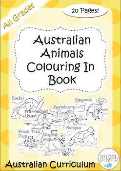 Australian Animals Colouring In Book