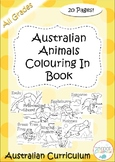 Australian Animals Colouring In Pages