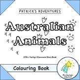 Australian Animals - Colouring Story Book